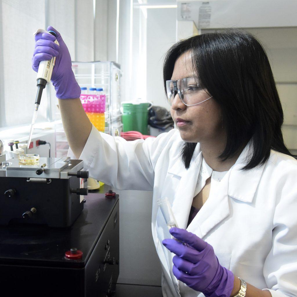 Ruby Sullan in chemistry lab